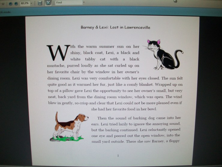 Page One (with clip art)