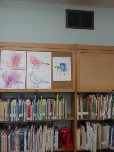She made the art wall!